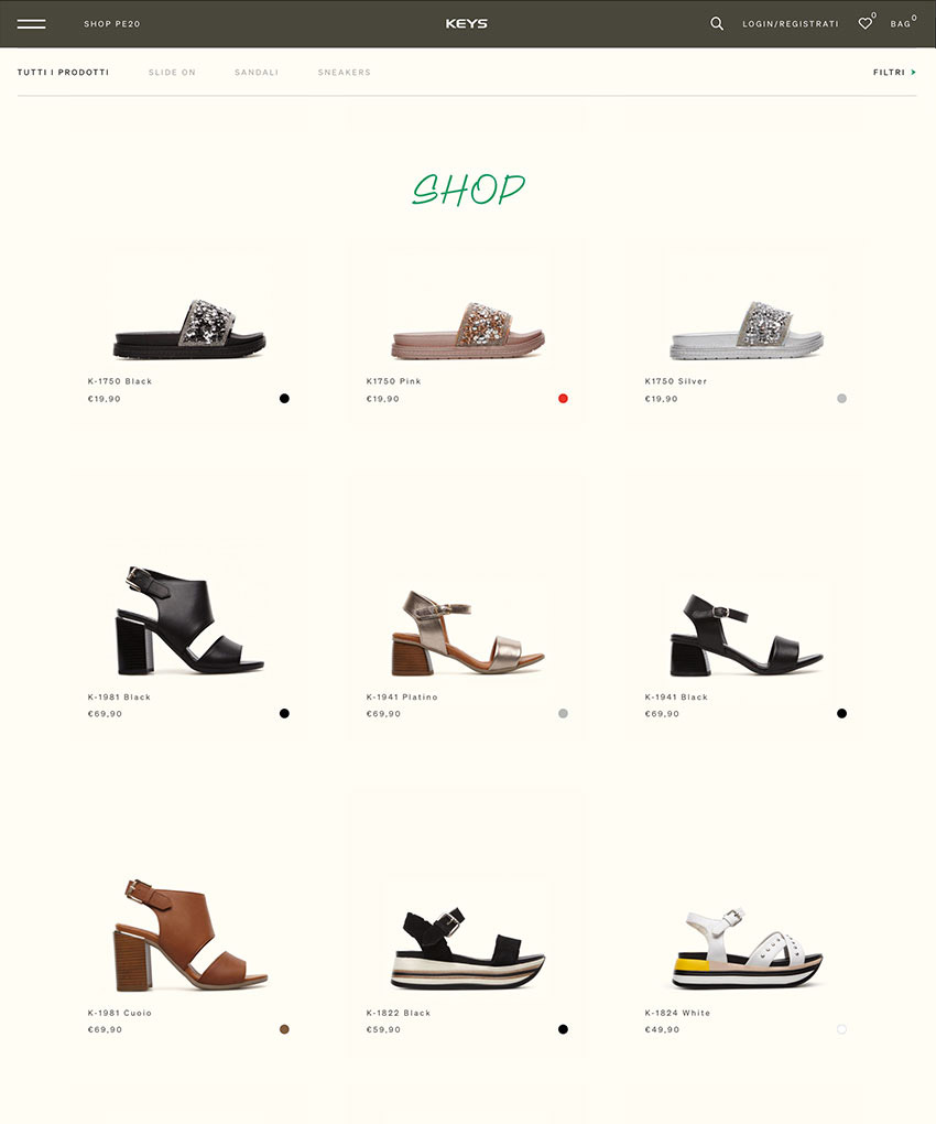 News Keys Shoes - Online il nuovo sito
